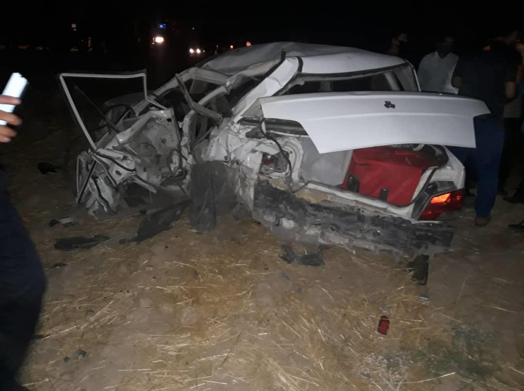 ۶کشته و زخمی در محور دهدشت به سوق/فوتی ها همه سرنشین پراید بودند